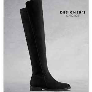 DUO BOOTS Tunstall over the knee suede black 38